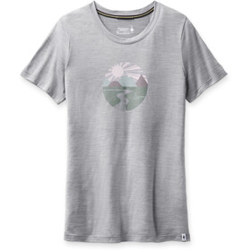 Smartwool Merino Sport 150 Shirt Sunset Stream Graphic Women, light gray heather
